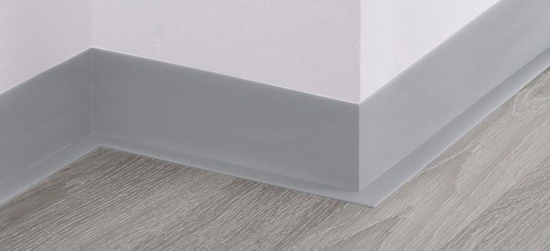 5 Meter HOLZBRINK Weichsockelleiste selbstklebend Wei/ß Knickleiste Material: PVC 100x25mm