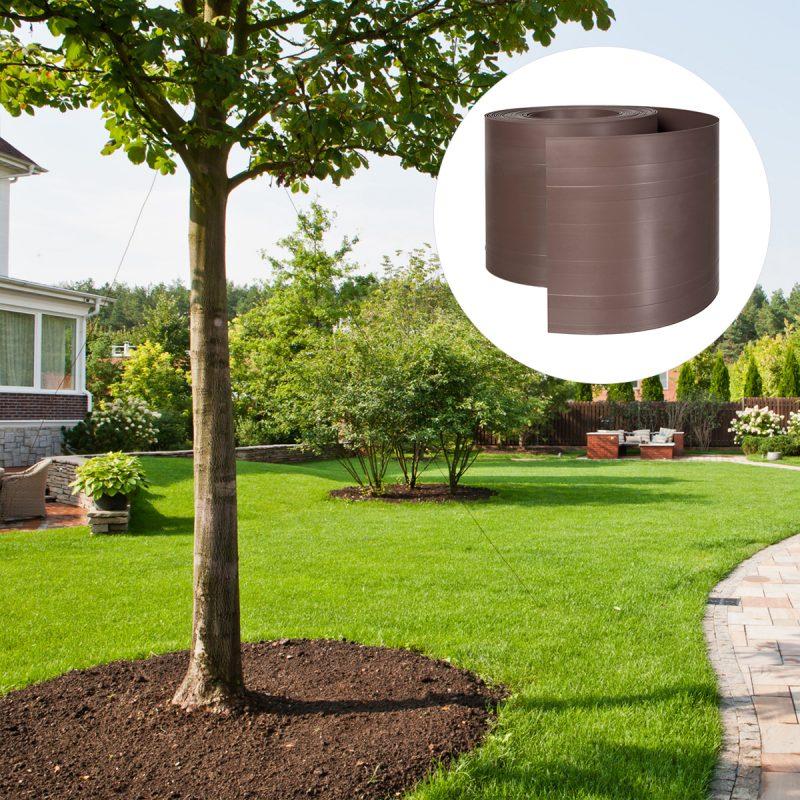 Anwendung der Rasenkante HRK03 140 mm - Für Bäume und Sträuche