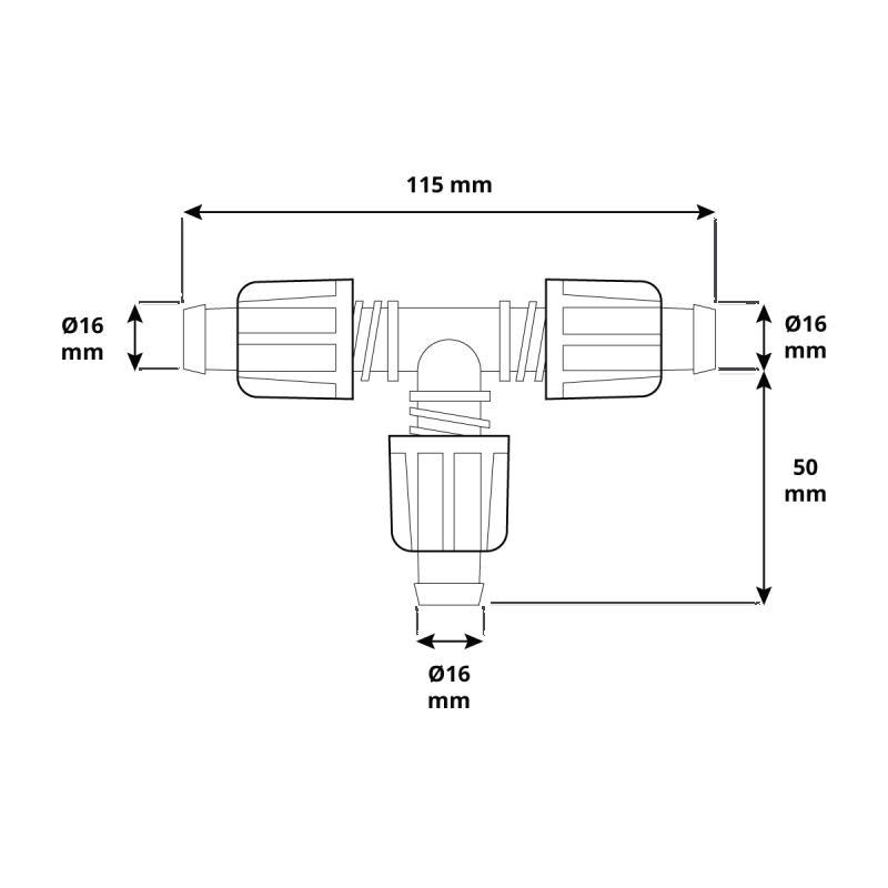 Trójnik HBZ-02 marki HOLZBRINK