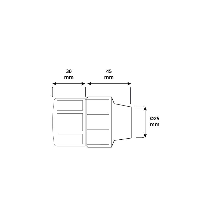 Korek HBZ-07 marki HOLZBRINK - rysunek techniczny