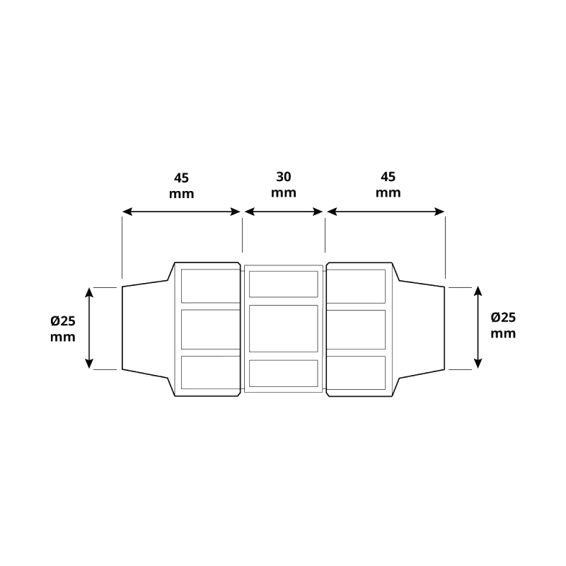 Przelot HBZ-09 marki HOLZBRINK - rysunek techniczny