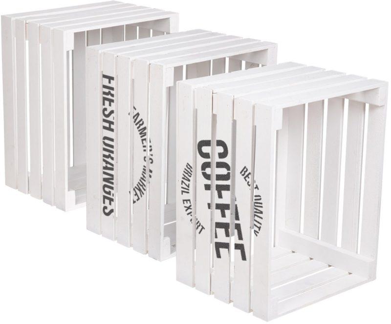 Holzkiste weiss mit label Holzbrink