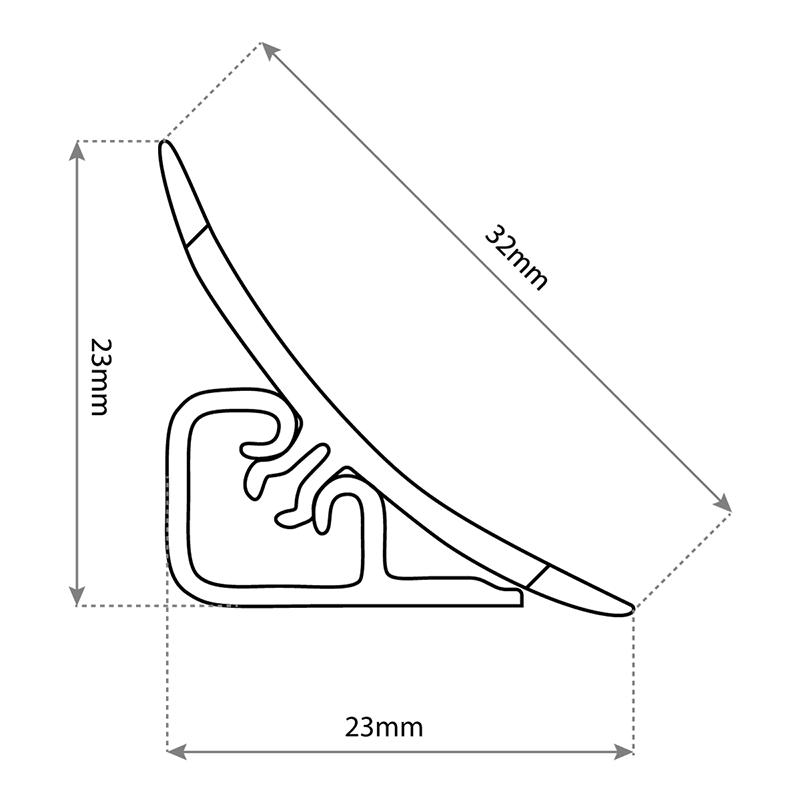 Küchenabschlussleiste Tech HOLZBRINK