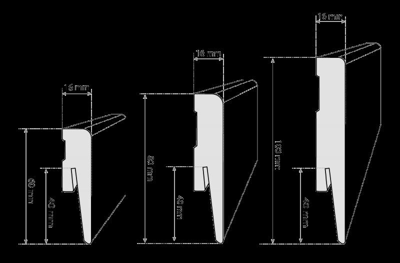 Listwa przypodłogowa MDF Berlin marki HOLZBRINK - rysunek techniczny