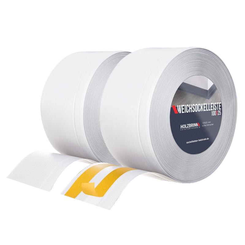 Weichsockelleiste PVC 100x25mm mit und ohne Kleber von HOLZBRINK