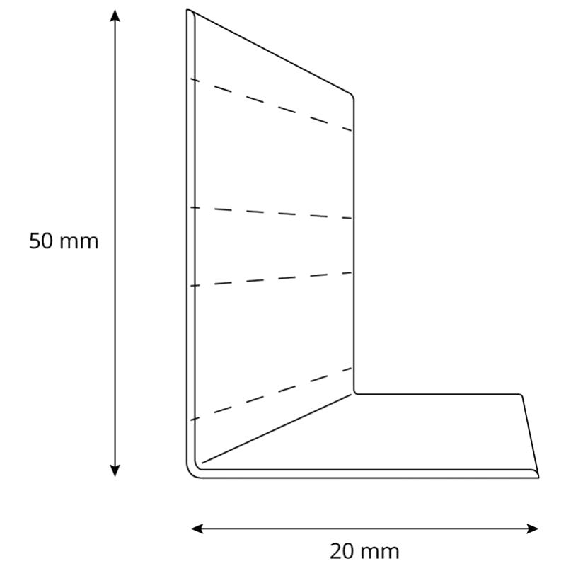 50x20mm HOLZBRINK Weichsockelleiste selbstklebend WEISS Knickleiste 5 Meter