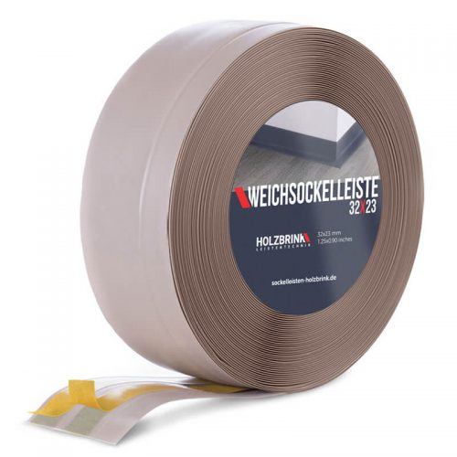Weichsockelleiste PVC Cappuccino 32x23mm Holzbrink