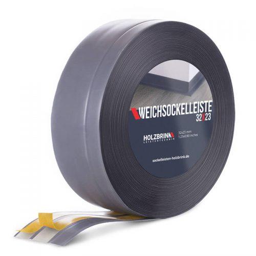 Weichsockelleiste PVC Dunkelgrau 32x23mm Holzbrink