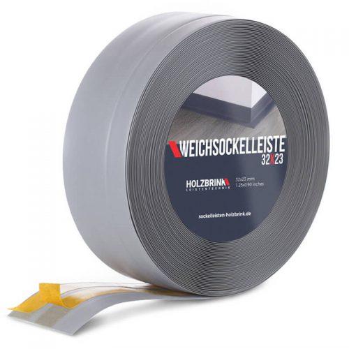 Weichsockelleiste PVC Hellgrau 32x23mm Holzbrink