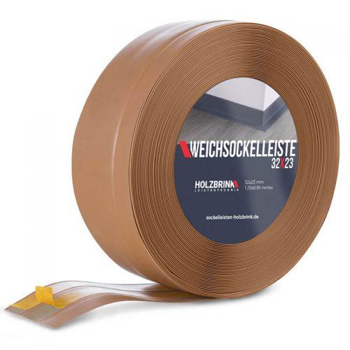 Weichsockelleiste PVC Karamell 32x23mm Holzbrink