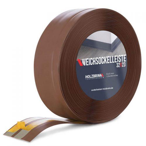 Weichsockelleiste PVC Schokolade 32x23mm Holzbrink