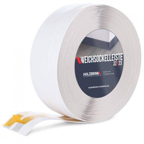 Weichsockelleiste PVC Weiß 32x23mm Holzbrink