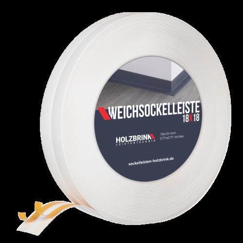 Weichsockelleiste PVC 18x18mm Weiß Holzbrink