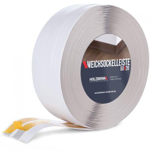 Weichsockelleiste PVC Aschgrau 50x20mm Holzbrink