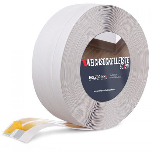 Weichsockelleiste PVC Birke 50x20mm Holzbrink