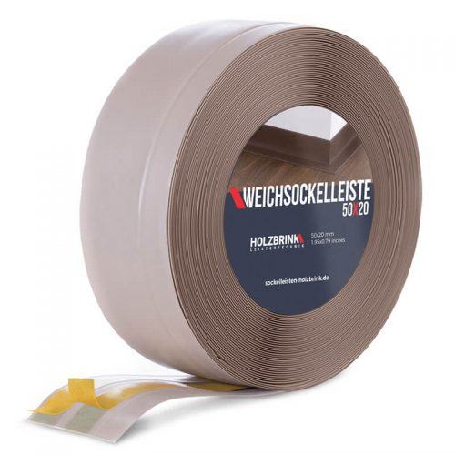 Weichsockelleiste PVC Cappuccino 50x20mm Holzbrink