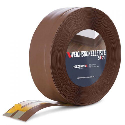Weichsockelleiste PVC Schokolade 50x20mm Holzbrink