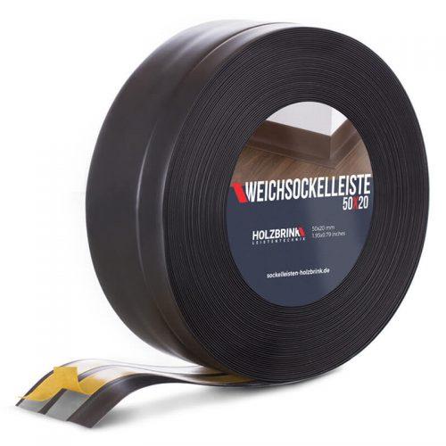 Weichsockelleiste PVC Schwarz 50x20mm Holzbrink
