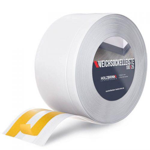 Weichsockelleiste PVC Weiß 100x25mm Holzbrink