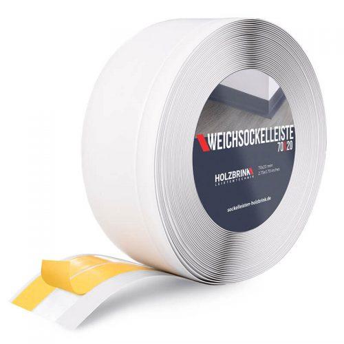 Weichsockelleiste PVC Weiß 70x20mm Holzbrink
